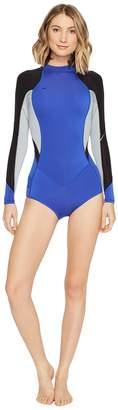 O'Neill Bahia Long Sleeve Shorts Spring Women's Wetsuits One Piece