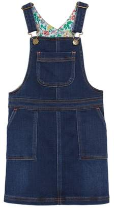 Boden Mini Denim Dungaree Overall Dress