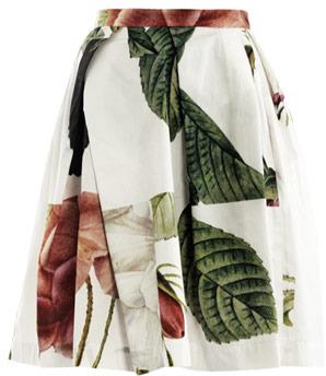 Vivienne Westwood Liberty rose puzzle-print skirt