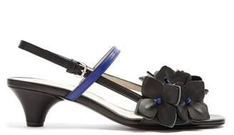 Marni Floral-embellished leather sandals