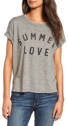 Women's Current/elliott Rolled Sleeve Graphic Tee $128 thestylecure.com