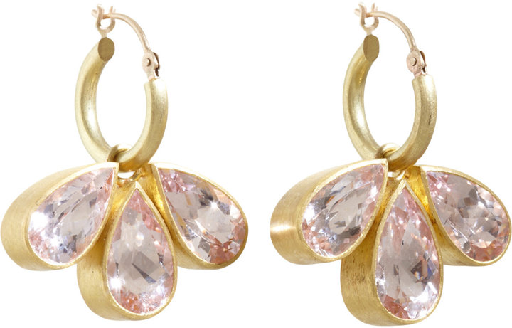 Mallary Marks Morganite Circus Hoop Earrings