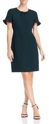 Karl Lagerfeld Paris Ruffle-Sleeve Crêpe Dress