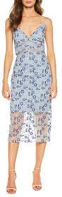 Sapphire Floral Lace Sheath Dress