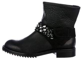 Pedro Garcia Embellished Leather Boots