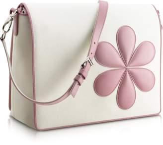 Pineider Pink Flower Messenger Changing Bag