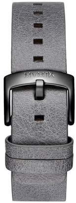 MVMT Mens Revolver Series20mm Grey Leather