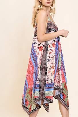 Umgee USA Floral Scarf Dress