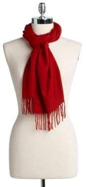 Lord & Taylor Solid Knit Scarf