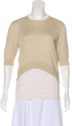Celine Scoop Neck Three-Quarter Sleeve Top