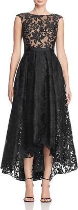 JS Collections Lace High/Low Gown $346 thestylecure.com