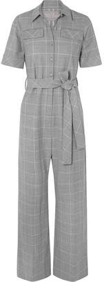 Lela Rose Checked Cady Jumpsuit - Gray