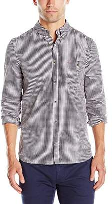 French Connection Men's Pomeroy Mini Check Long Sleeve Button-Down Shirt