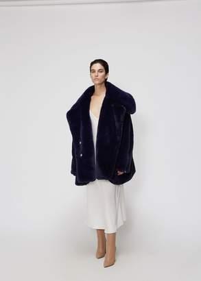 Xiao Li Oversized Fur Biker Coat