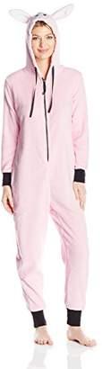 Totally Women's Plush Specialty Bunny Onesie