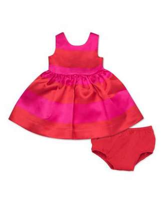 Kate Spade Carolyn Striped Satin Sleeveless Dress W/ Bloomers, Size 12-24 Months