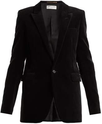 Saint Laurent Single-breasted corduroy blazer