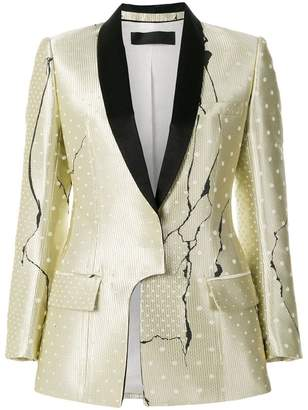 Haider Ackermann polka dot patterned blazer