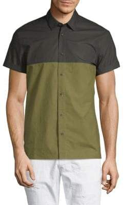 Scotch & Soda Colorblock Cotton Button-Down Shirt