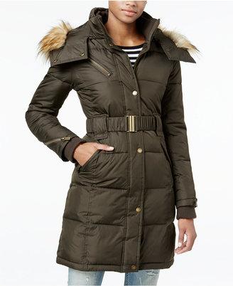 RACHEL Rachel Roy Hooded Faux-Fur-Trim Puffer Coat, Only at Macy's $250 thestylecure.com