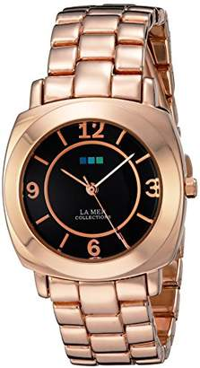 La Mer Women's LMODYSSEYLINK003 Analog Display Japanese Quartz Rose Gold Watch