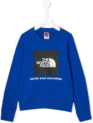 The North Face Kids logo print sweatshirt