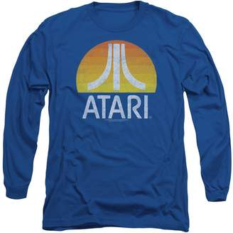 Atari Video System Classic Yellow Sun Logo Distressed Adult Long Sleeve T-Shirt