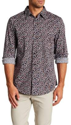 Perry Ellis Camo Print Stretch Poplin Shirt