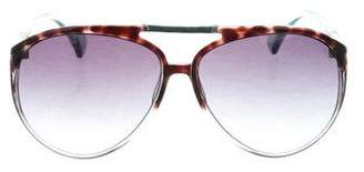 Jimmy Choo Snakeskin-Trimmed Aster Sunglasses