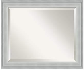 Amanti Art Metro Silver Finish Modern Wood Wall Mirror