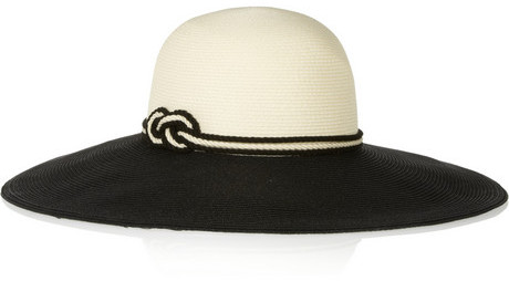 Eugenia Kim Bunny embellished toyo and cotton-blend sunhat
