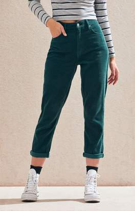 PacSun Emerald Corduroy Mom Jeans