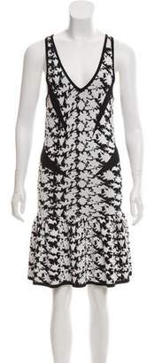 Nicole Miller Knit Patterned Dress
