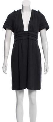 Marc Jacobs Short Sleeve Wool Dress Grey Short Sleeve Wool Dress