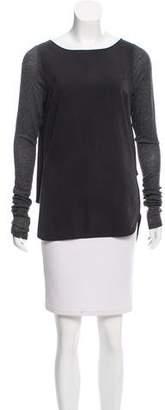Victoria Beckham Silk Long Sleeve Top