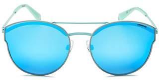 Polaroid Women's Polarized Round Sunglasses, 60mm