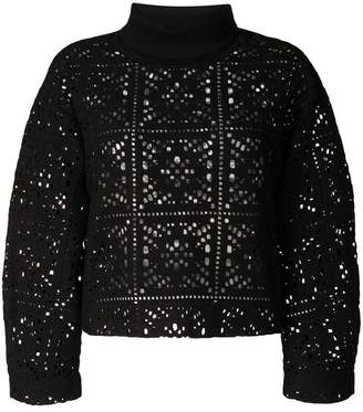 See by Chloe perforated turtleneck sweater