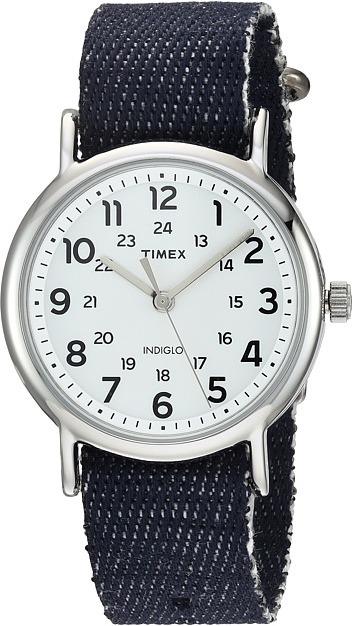 Timex - Weekender Denim Slip-Thru Strap Watches