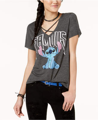 Freeze 24-7 Juniors' Strappy Stitch Graphic T-Shirt