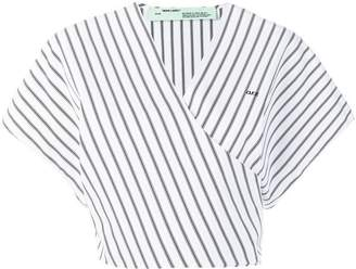 Off-White cropped stripped blouse
