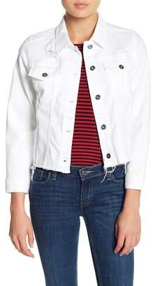 Melrose and Market Distressed Cutoff Denim Jacket (Regular & Petite)