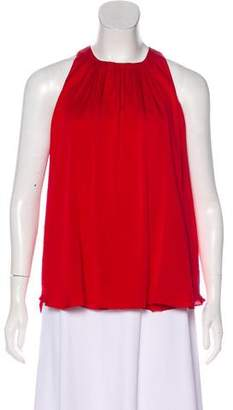 L'Agence Sleeveless Scoop Neck Blouse