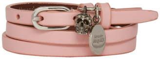 Alexander McQueen Pink Multi Warp Bracelet