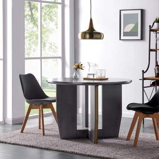 Ash Southern Enterprises Waxi Round Dining Table, Smoked
