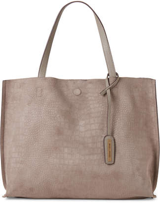Street Level Stone Snakeskin Embossed Tote