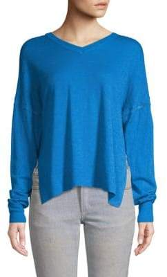 Etoile Isabel Marant Long-Sleeve Split-Hem Sweater