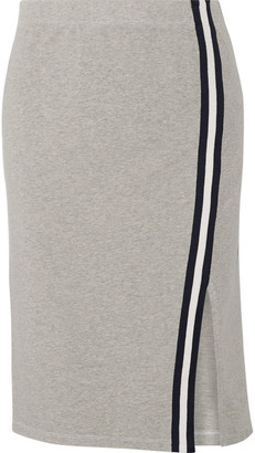 Splendid - Varsity Active Striped Stretch Cotton And Modal-blend Jersey Skirt - Gray $165 thestylecure.com