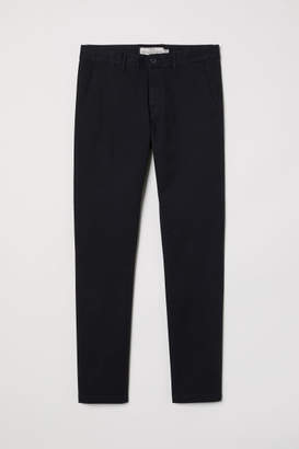 H&M Cotton Chinos Skinny fit - Black
