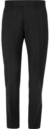Privee SALLE Black Rocco Slim-Fit Wool And Mohair-Blend Suit Trousers