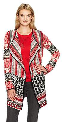 Desigual Women's Call Woman Flat Knitted Thick Gauge Jacket